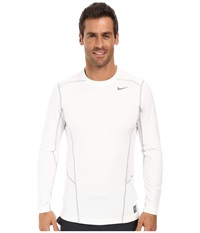 Nike Hyperwarm Lite Fitted L S Crew White Cool Grey Cool Grey Men's Long Sleeve Pullover