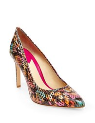 Brian Atwood Malika Snakeskin Embossed Pumps Multi Colored