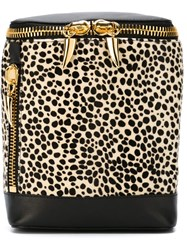 Giuseppe Zanotti Design Animal Print Tube Backpack