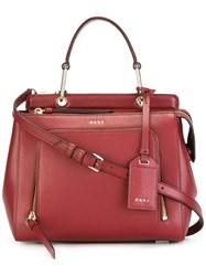Dkny Small Zip Pocket Tote Red