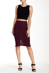 Lily White Medi Solid Skirt Red