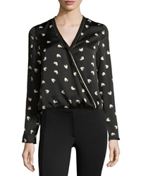 Cooper And Ella Cross Front Long Sleeve Blouse Love Me Print