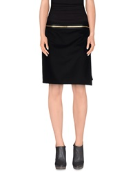 Salvatore Ferragamo Knee Length Skirts Black