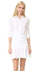Veronica Beard Century Baby Rib Short Dress White