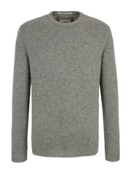 Racing Green Whiston Crew Neck Knit Jumper Grey Marl