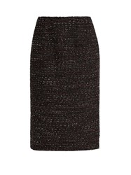 Altuzarra Gaynor Tweed Pencil Skirt Black Multi
