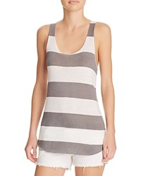 Alternative Apparel Alternative Meegs Stripe Racer Tank Eco True Grey White Weathered Stripe
