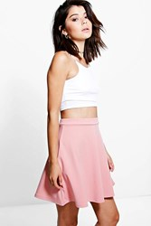 Boohoo Fit And Flare Skater Skirt Dusky Pink