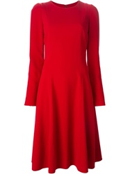Dolce And Gabbana Flared Long Sleeve Dress