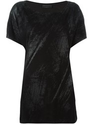 Diesel Black Gold Brush Stroke Print T Shirt