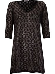 Lygia And Nanny Sheer Lace Beach Dress Black
