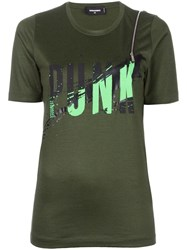 Dsquared2 Punk Print T Shirt Green