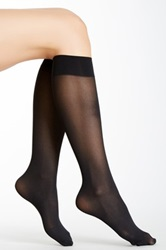 Hue Light Weight Knee High Tights Pack Of 3 Black