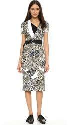 Preen Meier Dress With Belt Leopard Grid