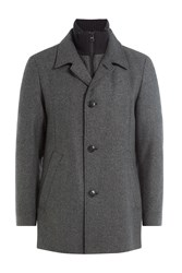 Hugo Wool Blend Jacket With Zipped Layer Underneath Gr. Xl