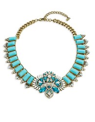 Abs By Allen Schwartz Rhinestone Statement Necklace Blue