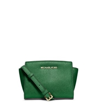 Michael Kors Selma Saffiano Leather Mini Messenger Gooseberry