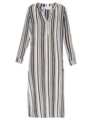 Velvet By Graham And Spencer Genevie Striped Cotton Dress Multi