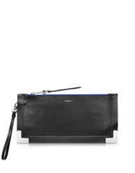 Pinko Canestro Leather Clutch Black