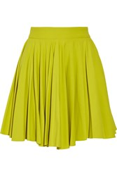 Cushnie Et Ochs Gathered Stretch Jersey Mini Skirt Yellow