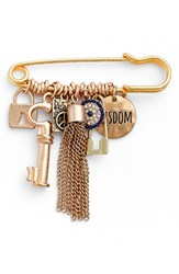 Cara Women's Friendship Pin With Charms