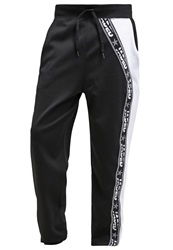 Jaded London Tracksuit Bottoms Black White