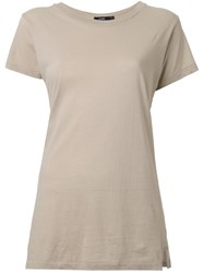 Bassike Slim Vintage Neck T Shirt Brown