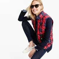 J.Crew Petite Excursion Vest In Tartan