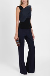 Roland Mouret Women S Semley Origami Top Boutique1 Navy