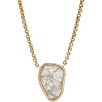 Dezso Polki Diamond And Rose Gold Pendant Necklace