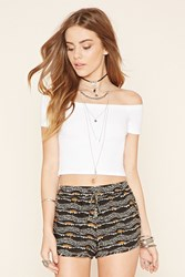 Forever 21 Abstract Print Dolphin Shorts