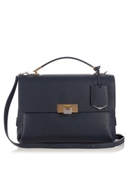 Balenciaga Le Dix Soft Leather Shoulder Bag Navy