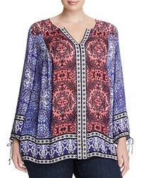 Lucky Brand Plus Long Sleeve Tunic Multi
