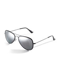 Ray Ban Two Tone Aviator Sunglasses Silver
