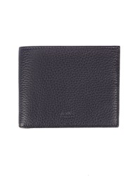 Armani Collezioni Navy Grained Leather Wallet Blue