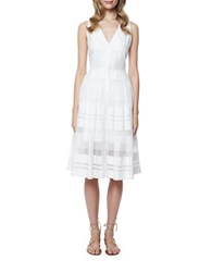 Erin Fetherston Dakota Sheer Striped A Line Dress Ivory