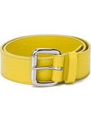 Orciani Square Buckle Belt Yellow And Orange