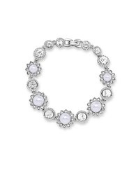 Marchesa Pearl And Crystal Bracelet Silver