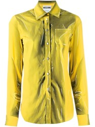Moschino Trompe L'oeil Shirt Yellow And Orange