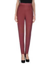 Byblos Trousers Casual Trousers Women Maroon