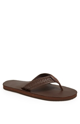 Rainbow 'Bentley' Flip Flop Men Mocha
