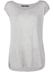 Fadeless Scoop Neck T Shirt Grey