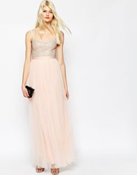 Needle And Thread Coppelia Embellished Ballet Tulle Maxi Dress Ballet Pink