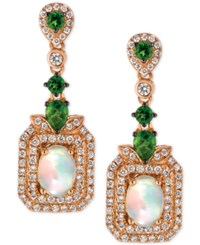 Le Vian Opal 9 10 Ct. T.W. Diamond 5 8 Ct. T.W. And Diopside 5 8 Ct. T.W. Drop Earrings In 14K Rose Gold Only At Macy's