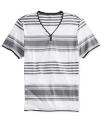 Inc International Concepts Men's Chillin Y Neck Striped T Shirt Only At Macy's White Pure