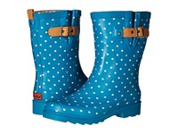 Chooka Classic Dot Mid Rain Boot Dark Teal Women's Rain Boots Blue