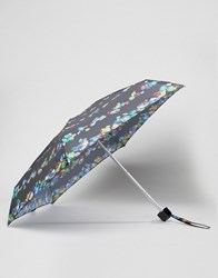 Fulton Tiny Bling Gem Print Umbrella Bling Gems Black