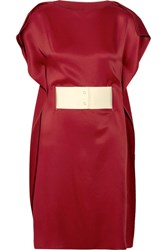 Maison Martin Margiela Mm6 Belted Satin Dress Red