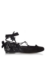 Sophia Webster Harmony Butterfly Ballet Flats Black