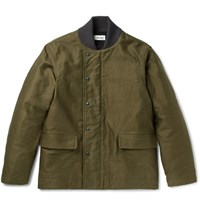 Chimala Codelane Brushed Cotton Twill Deck Jacket Army Green
